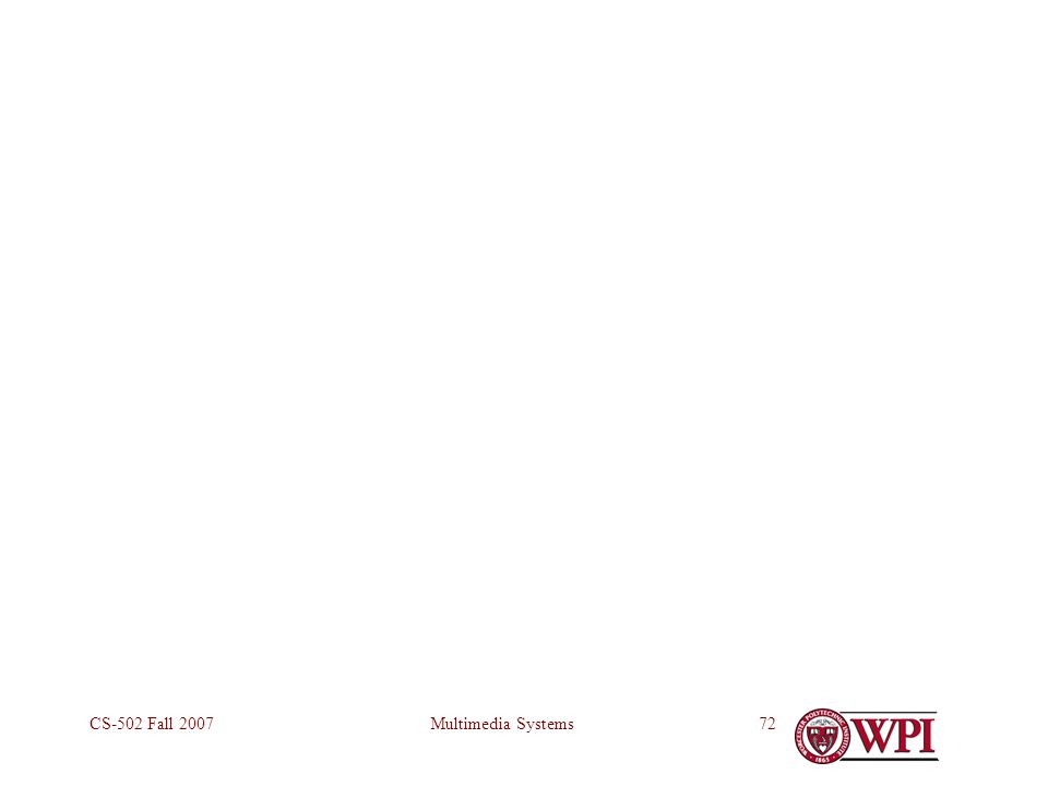 Multimedia SystemsCS-502 Fall 200772