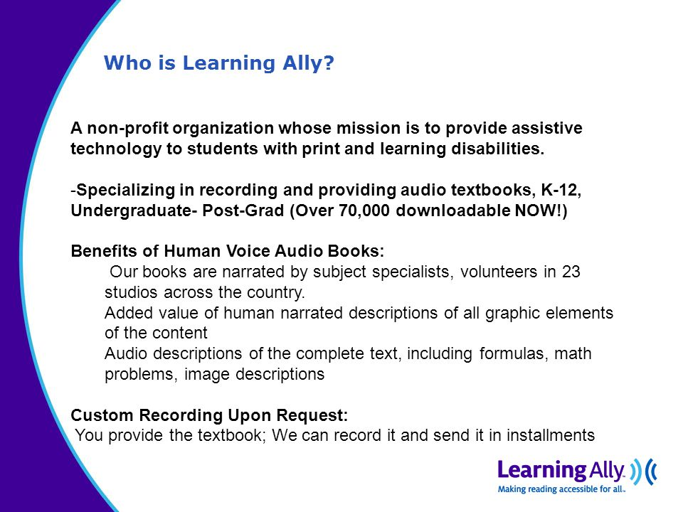 Who is Learning Ally.