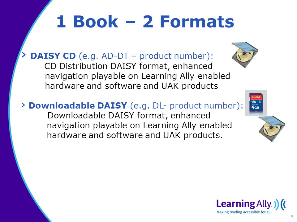 1 Book – 2 Formats › DAISY CD (e.g.