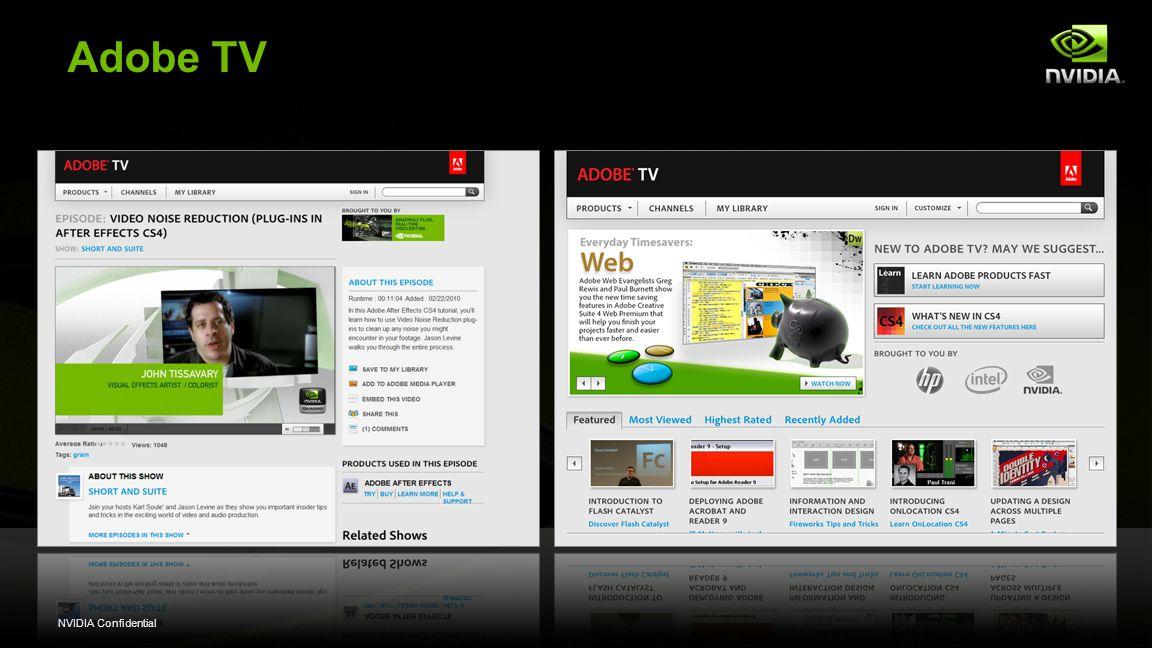 NVIDIA Confidential Adobe TV