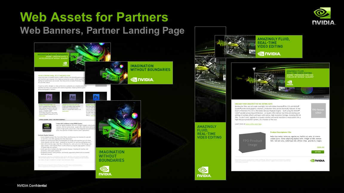 NVIDIA Confidential Web Assets for Partners Web Banners, Partner Landing Page