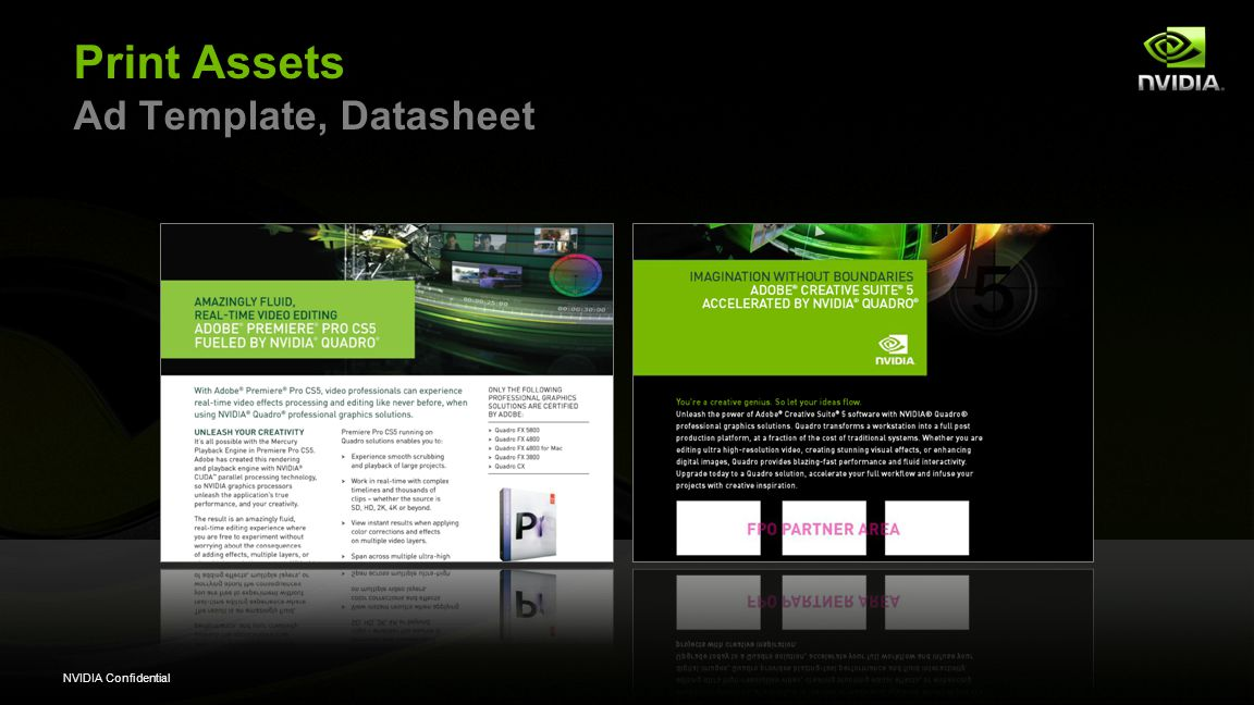 NVIDIA Confidential Print Assets Ad Template, Datasheet