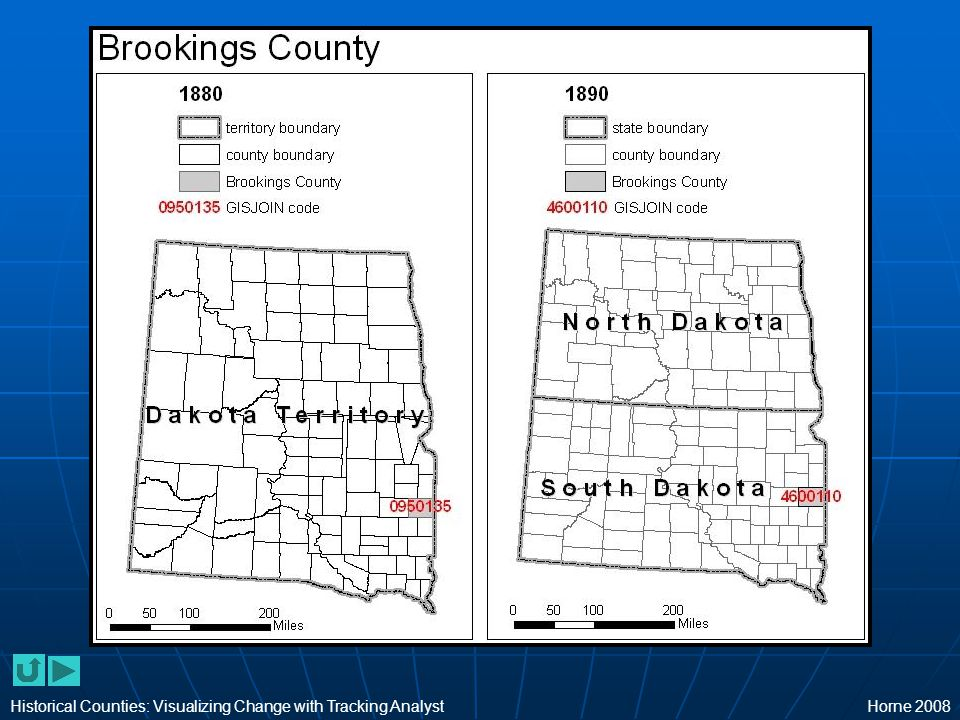 Historical Counties: Visualizing Change with Tracking AnalystHorne 2008