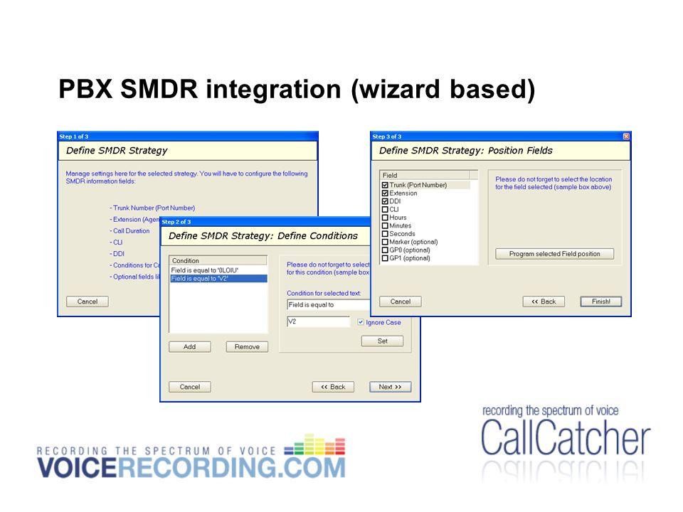PBX SMDR integration (wizard based)