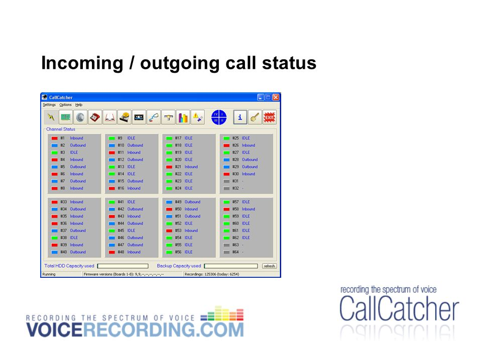 Incoming / outgoing call status