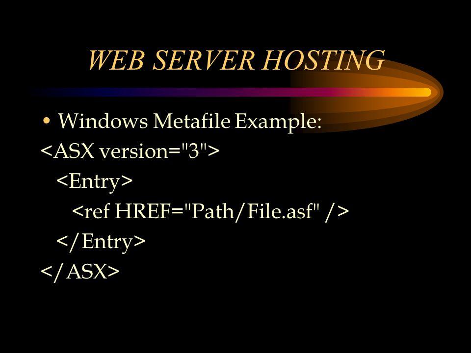 Windows Metafile Example: WEB SERVER HOSTING