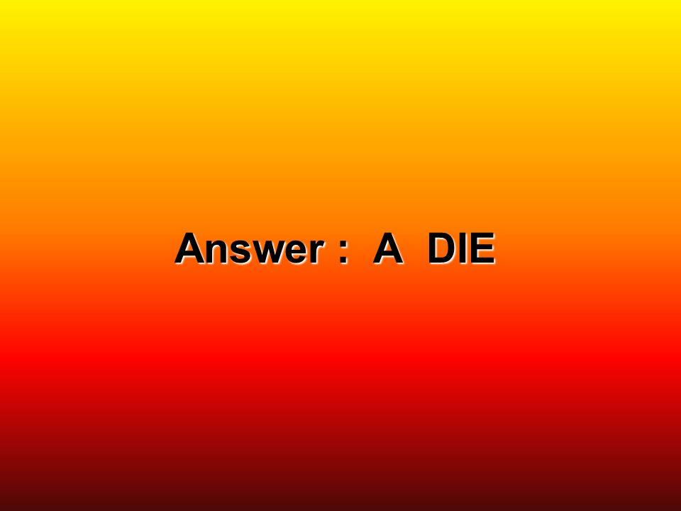 Answer : A DIE