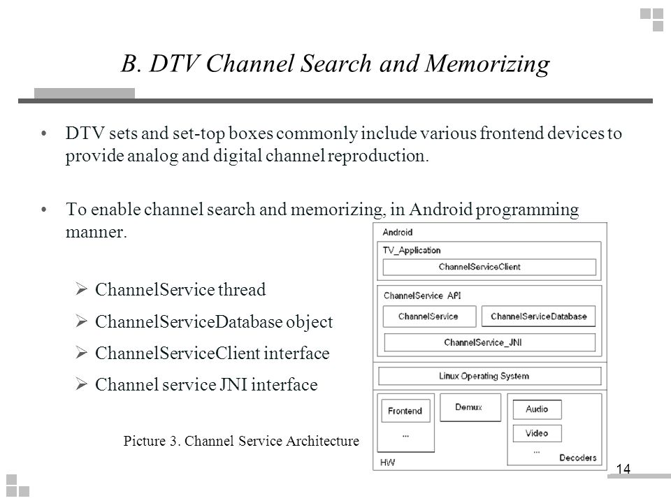 DTV sets and set-top boxes commonly include various frontend devices to provide analog and digital channel reproduction. To enable channel search and