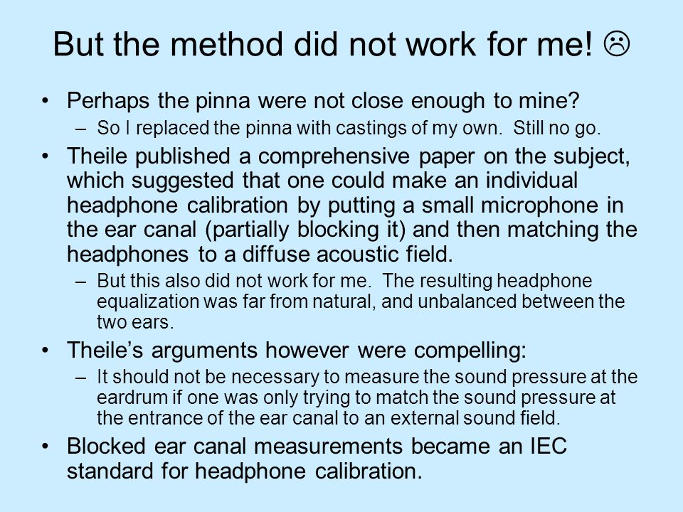 Headphone equalization differences blocked vs eardrum Using the same method, I measured three headphones.