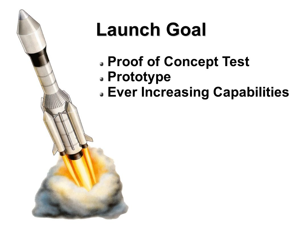 Launch Goal Proof of Concept Test Prototype Ever Increasing Capabilities