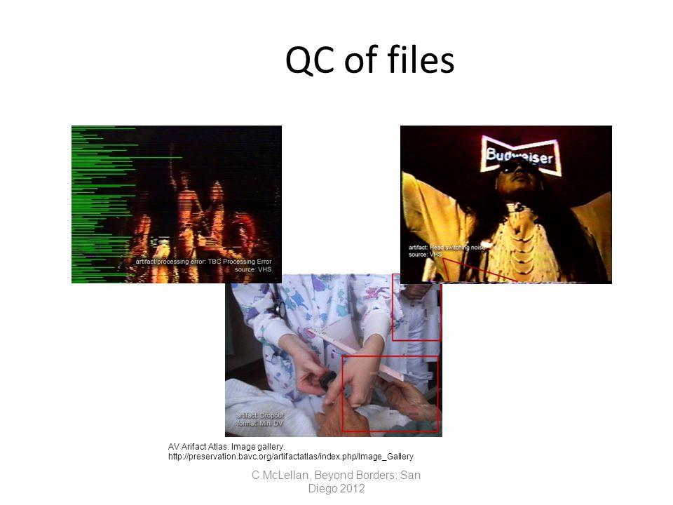 QC of files AV Arifact Atlas. Image gallery.