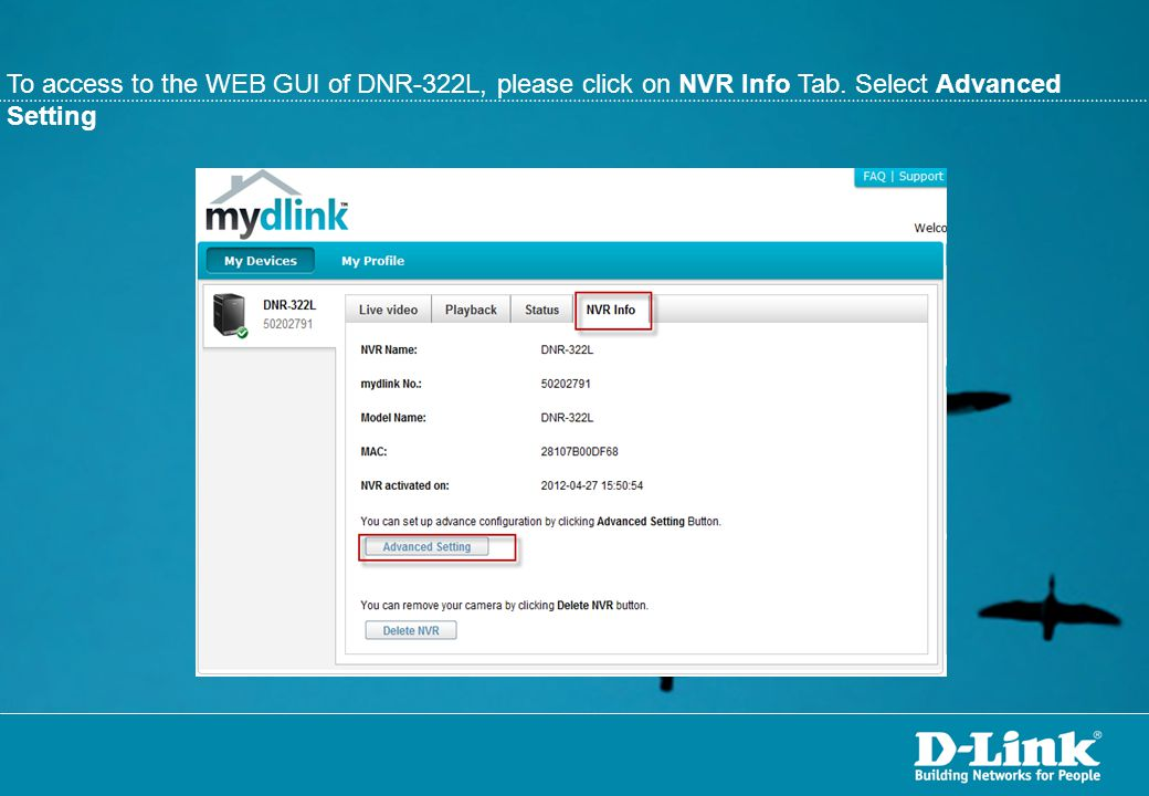 All detected D-Link ip cameras will be listed.