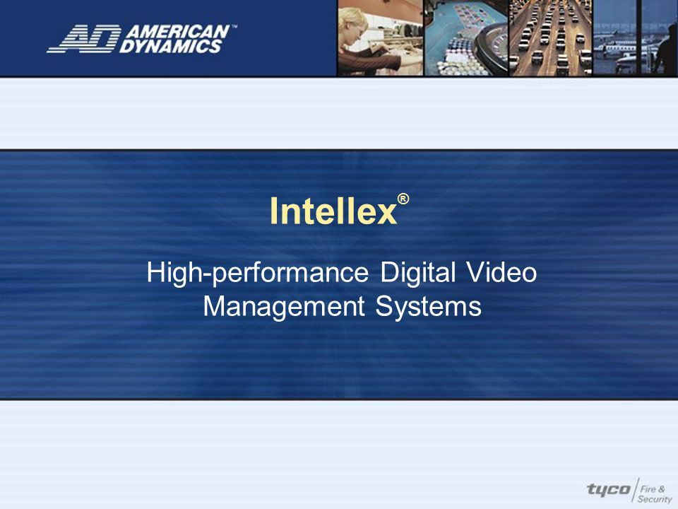 Integration at its Best More than 75 partners use the Intellex API Intellex provides interoperability with access control and business management software applications to provide a complete security solution.