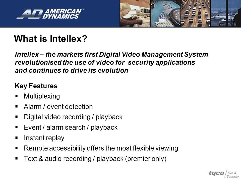 The Intellex Family Intellex Ultra Intellex IP Intellex DVMS / LT
