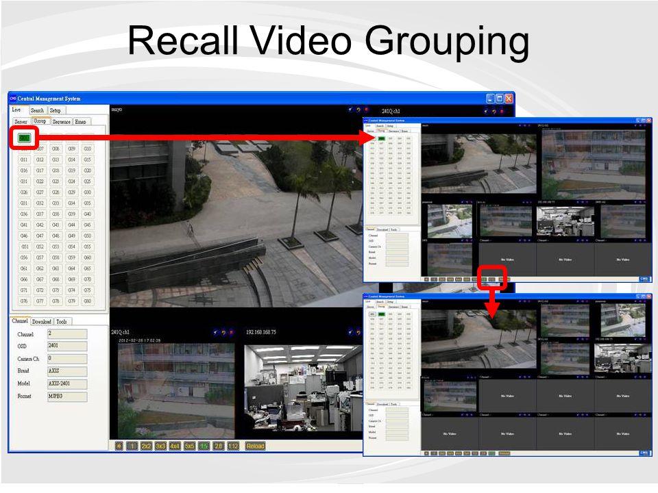 Recall Video Grouping