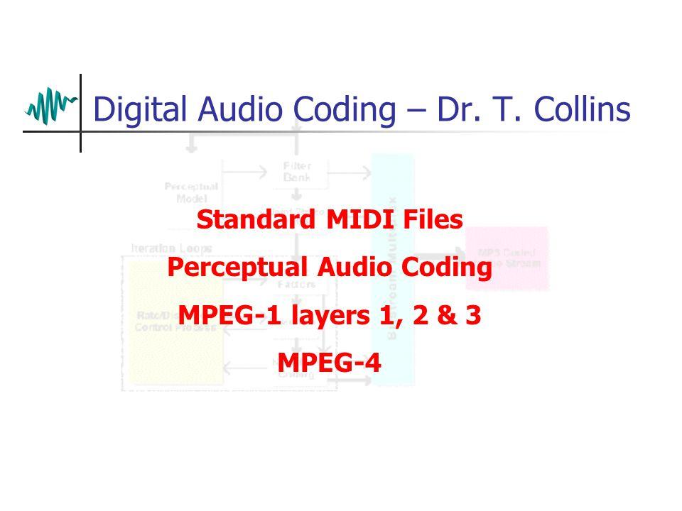Digital Audio Coding – Dr.T.
