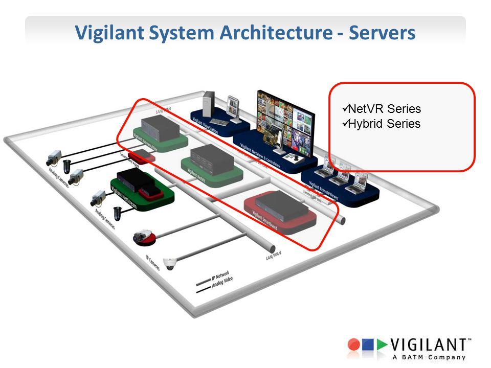 Vigilant System Architecture - Servers NetVR Series Hybrid Series