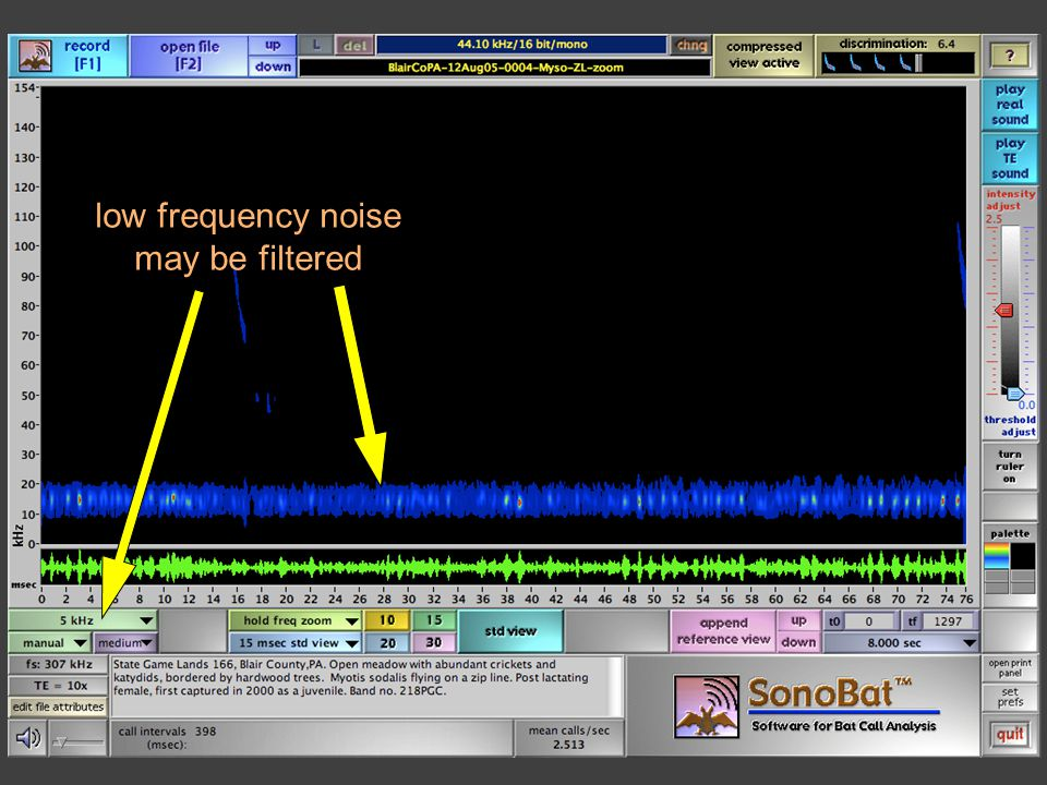 low frequency noise may be filtered