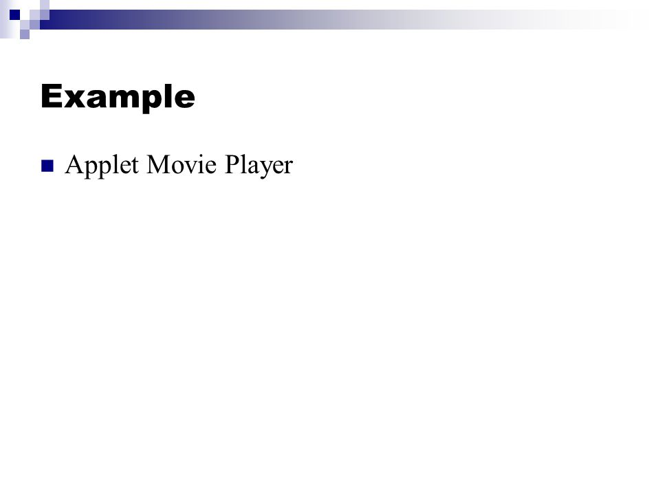 Example Applet Movie Player