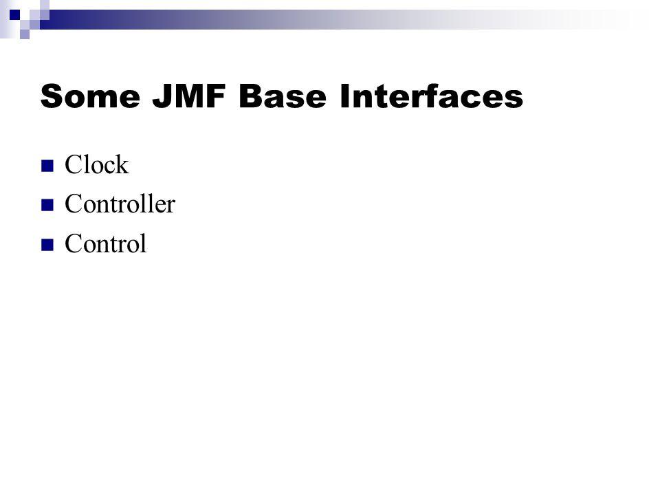 Some JMF Base Interfaces Clock Controller Control