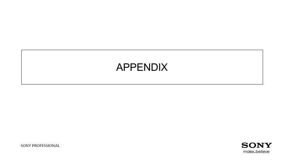 SONY PROFESSIONAL APPENDIX