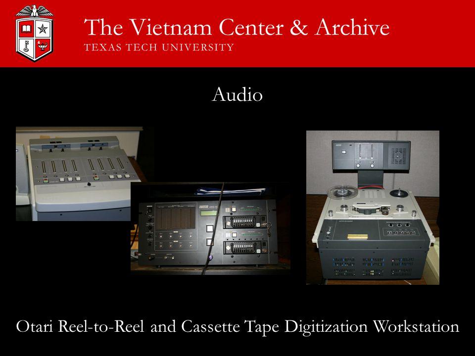 Audio Otari Reel-to-Reel and Cassette Tape Digitization Workstation