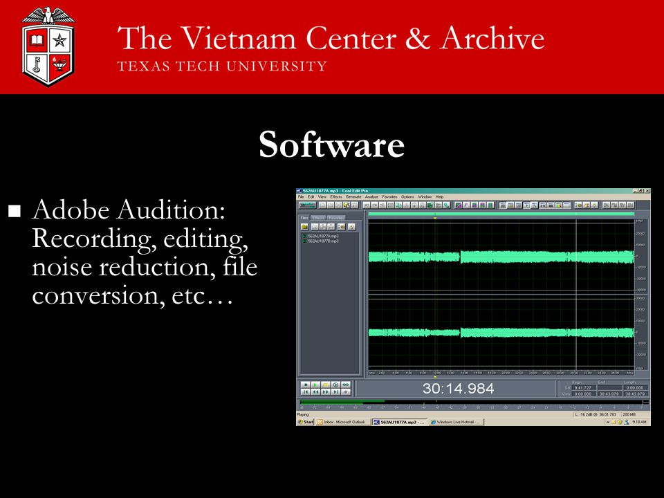 Software Adobe Audition: Recording, editing, noise reduction, file conversion, etc…