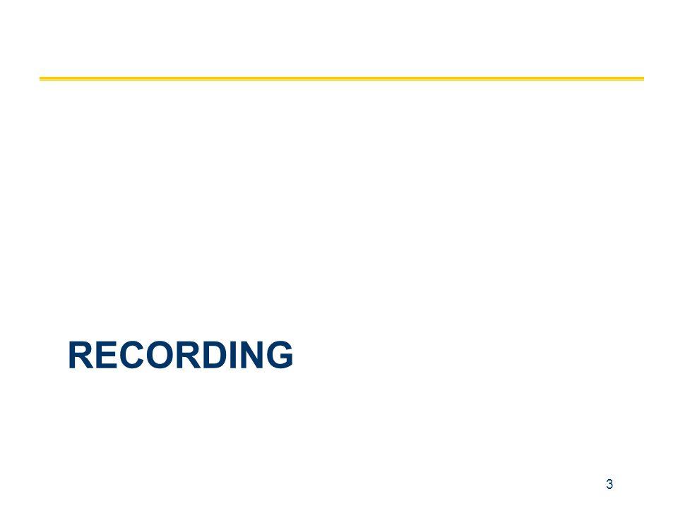 3 RECORDING
