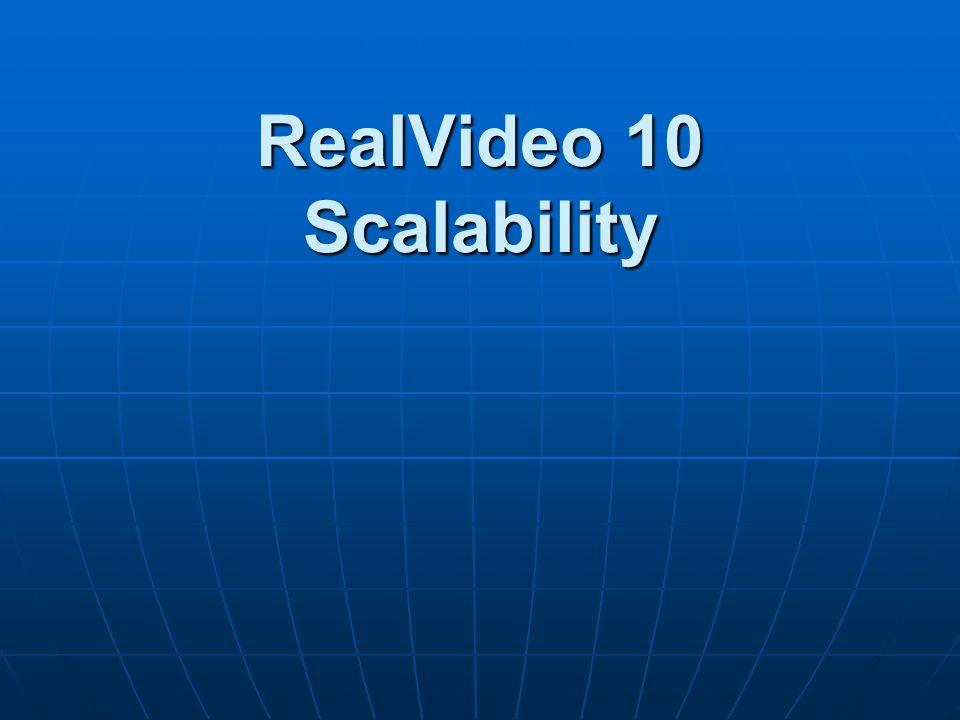 RealVideo 10 Scalability