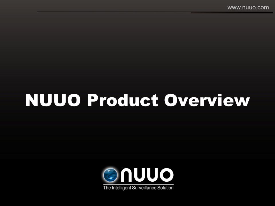 NUUO Product Overview