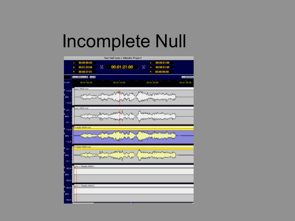 Incomplete Null