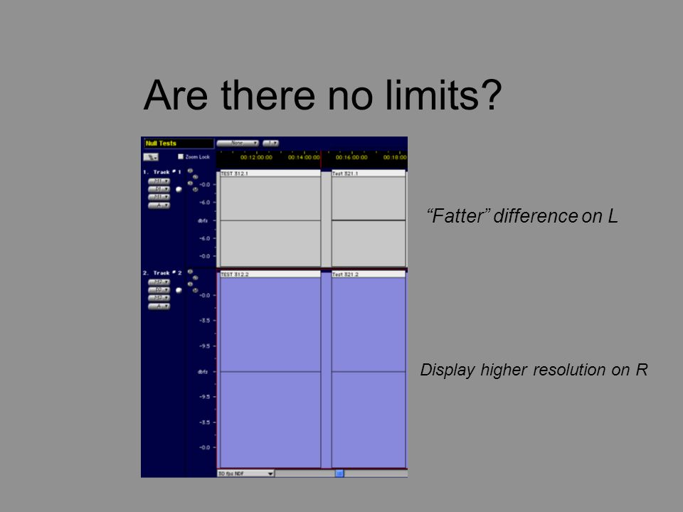 "Are there no limits? ""Fatter"" difference on L Display higher resolution on R"