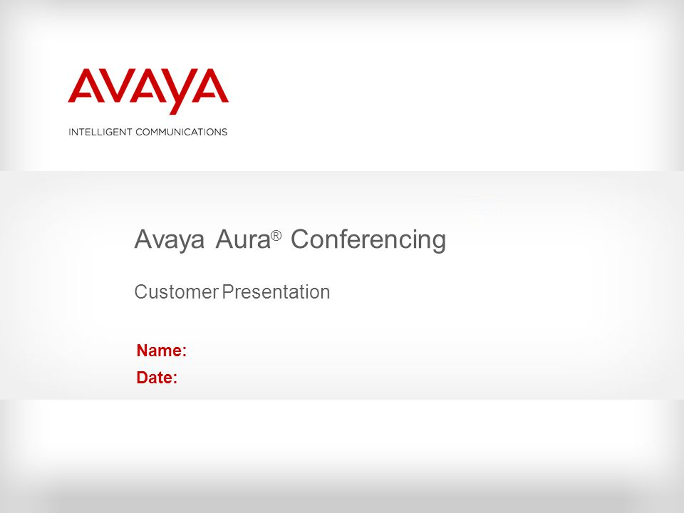 The Avaya Aura ® Architecture Clients and Devices Unified Communications Applications Session Manager System Manager Voice/Video Services Presence Services Application Integration Avaya Agile Communication Environment (ACE) Collaboration, Email, Team Space & Social Networking Integration Communications Infrastructure Data Infrastructure Office Devices Avaya one-X ® UC Clients Video Endpoints MessagingConferencingVideo