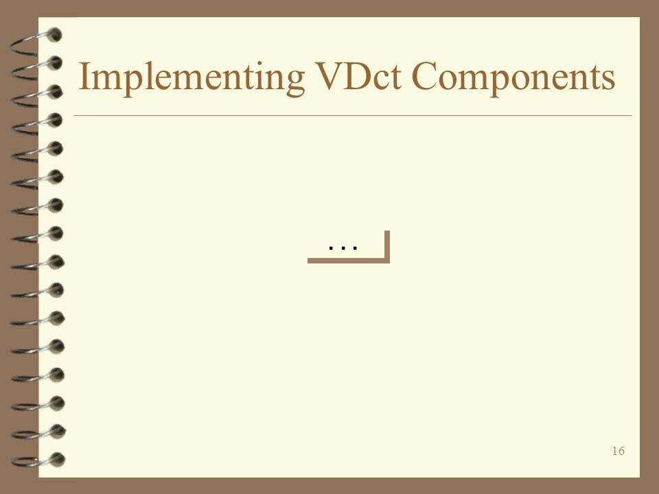 16 Implementing VDct Components...