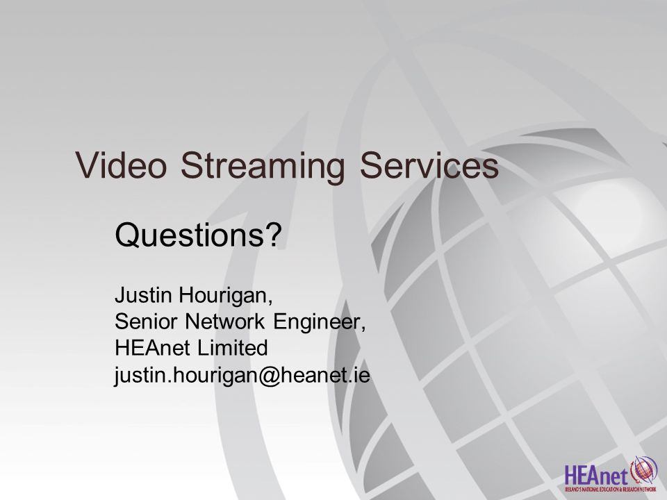 Video Streaming Services Questions.