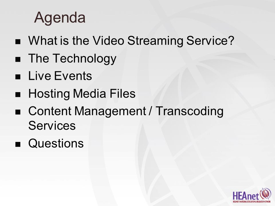 What is the Video Streaming Service.