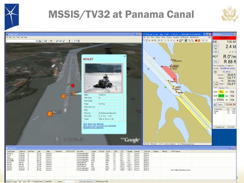 20 MSSIS/TV32 at Panama Canal