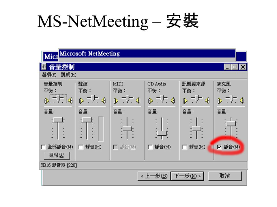 MS NetMeeting – 硬體 VGA /w TV-In/Out NT : 1500~ CCD NT : 1500~ V8 NT : 20000~
