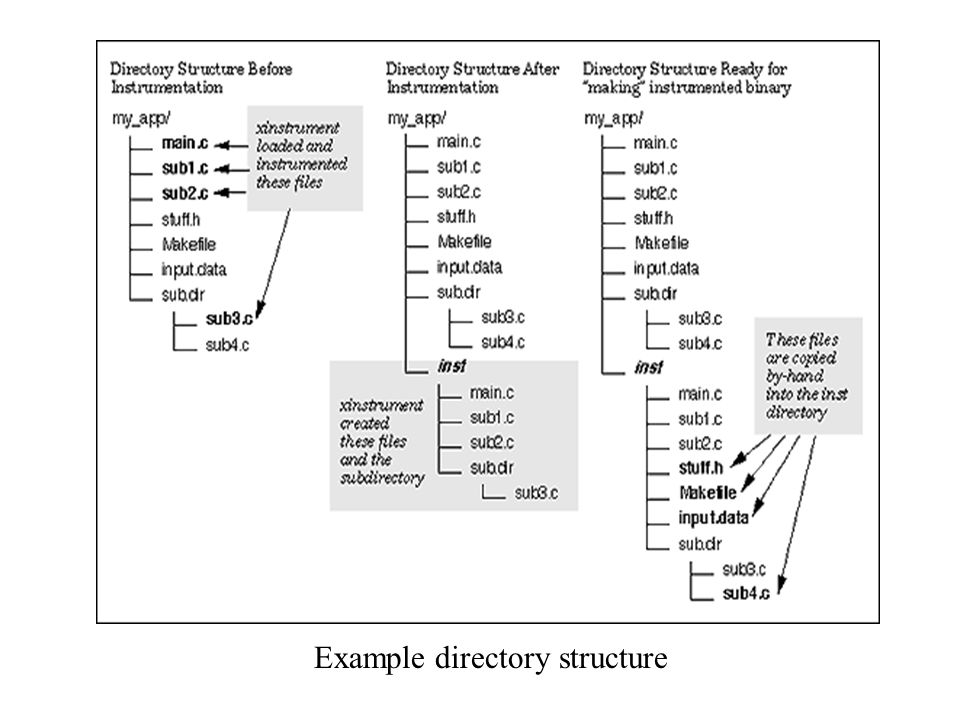Example directory structure