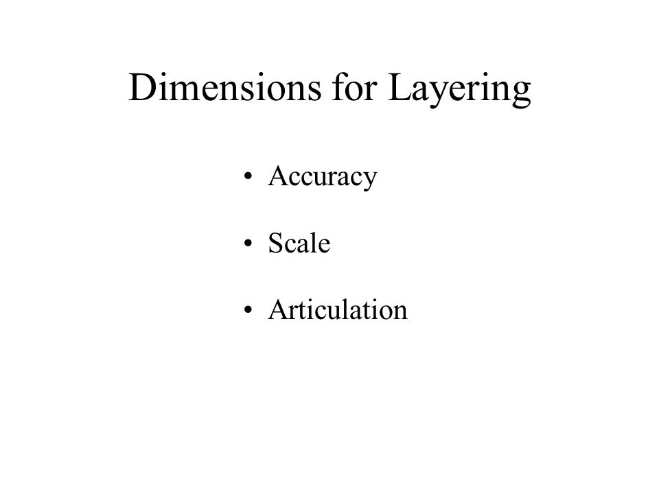 Dimensions for Layering Accuracy Scale Articulation