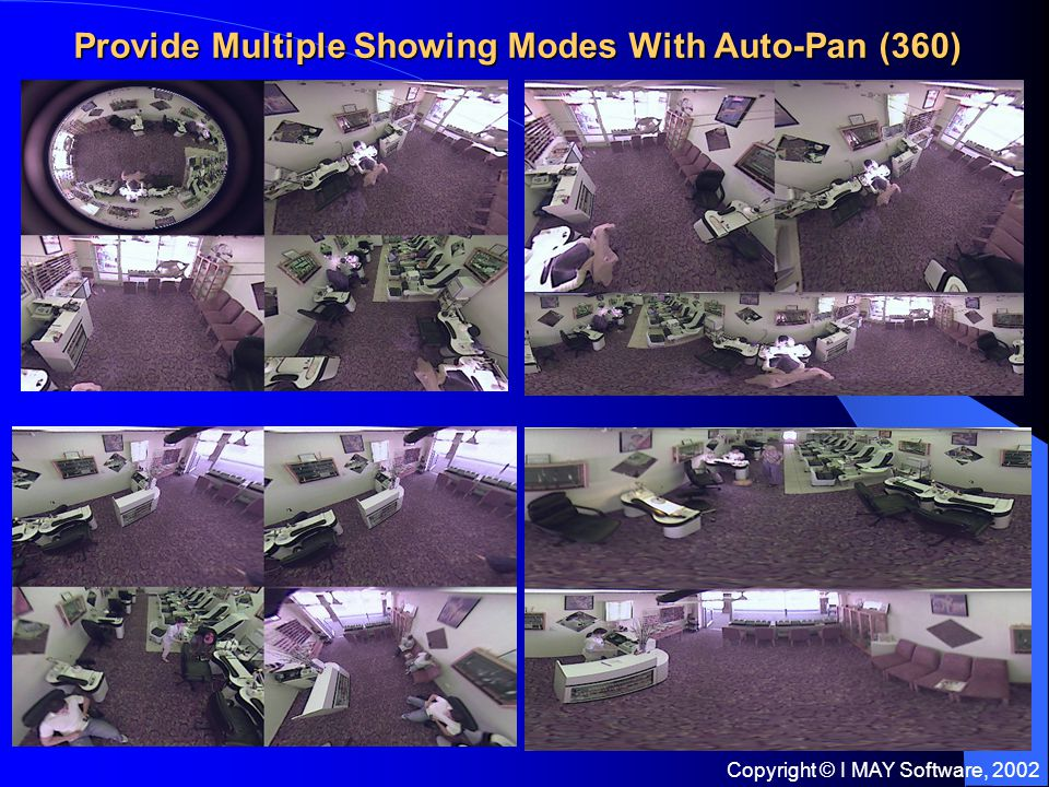 Copyright © I MAY Software, 2002 Provide Multiple Showing Modes With Auto-Pan (360)