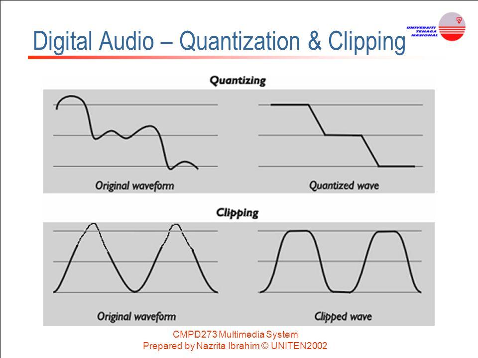 CMPD273 Multimedia System Prepared by Nazrita Ibrahim © UNITEN2002 Digital Audio – Quantization & Clipping