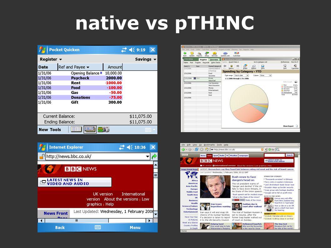 native vs pTHINC