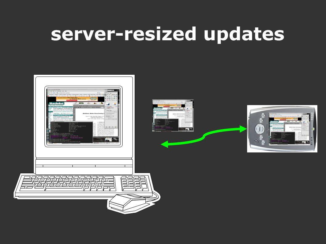 server-resized updates