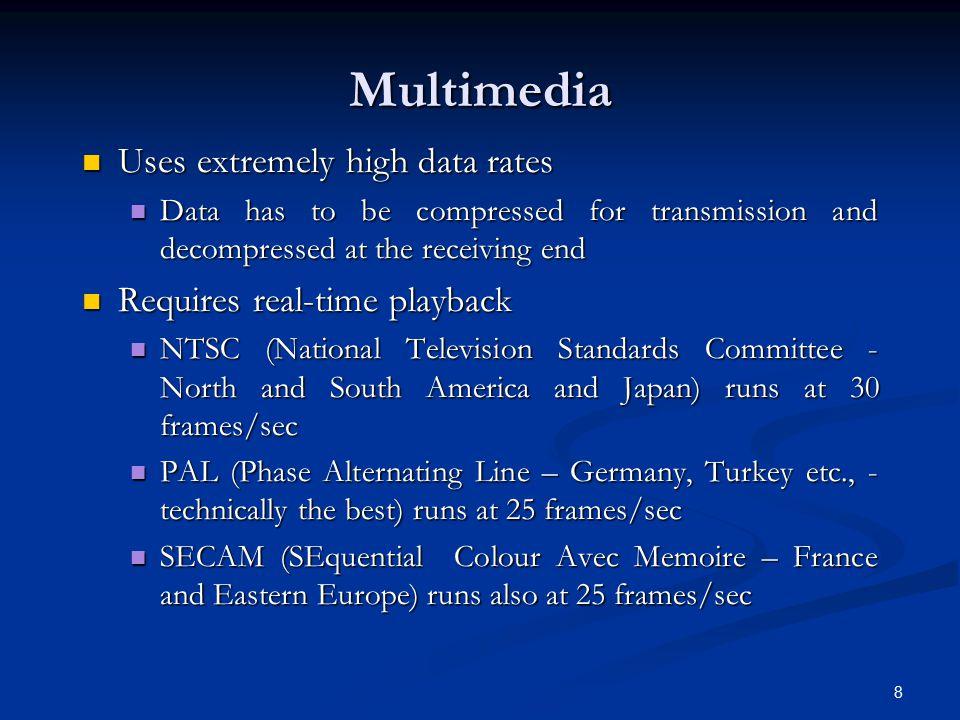 19 Video Compression (2) Asymmetries Asymmetries Encoding once (before transmission.