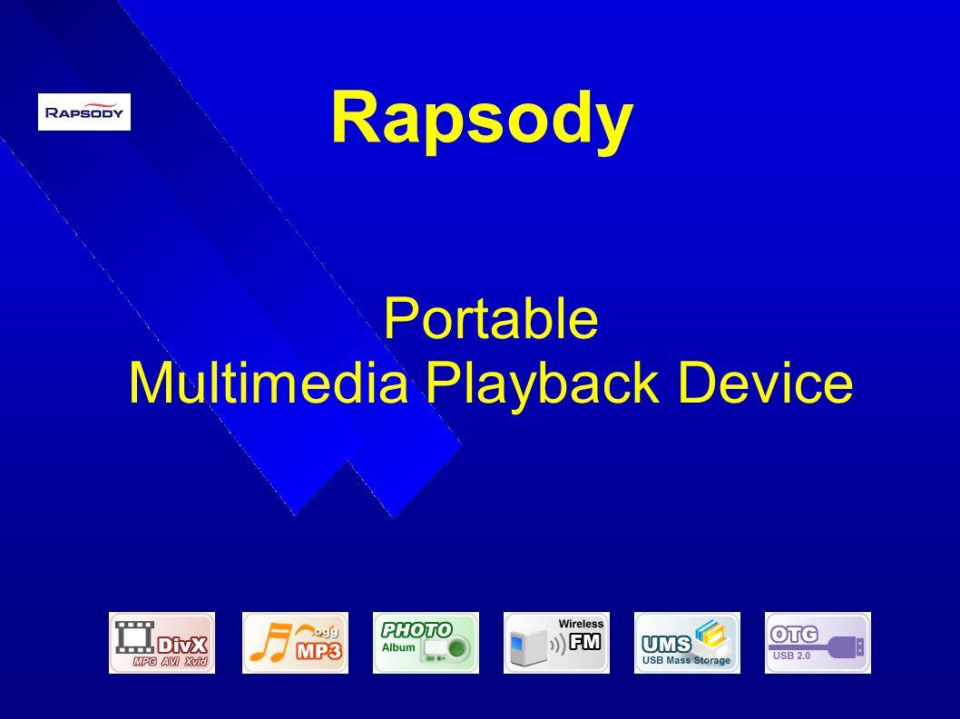 Rapsody Portable Multimedia Playback Device