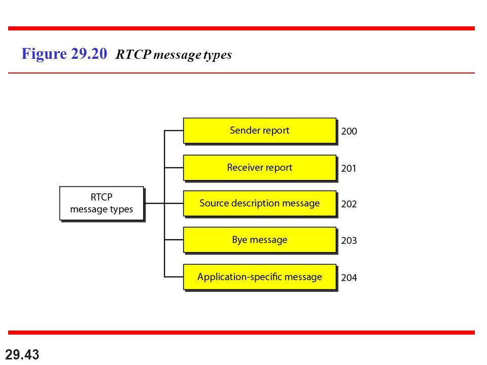 29.43 Figure 29.20 RTCP message types