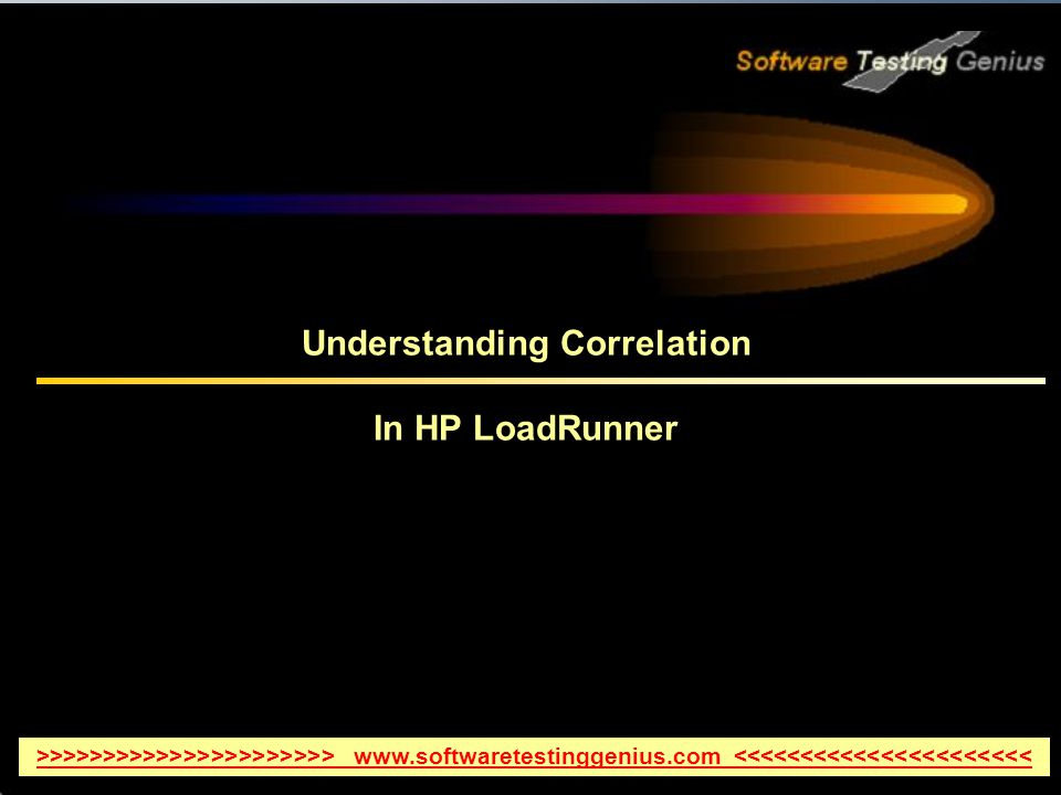 Understanding Correlation In HP LoadRunner >>>>>>>>>>>>>>>>>>>>>> www.softwaretestinggenius.com <<<<<<<<<<<<<<<<<<<<<<