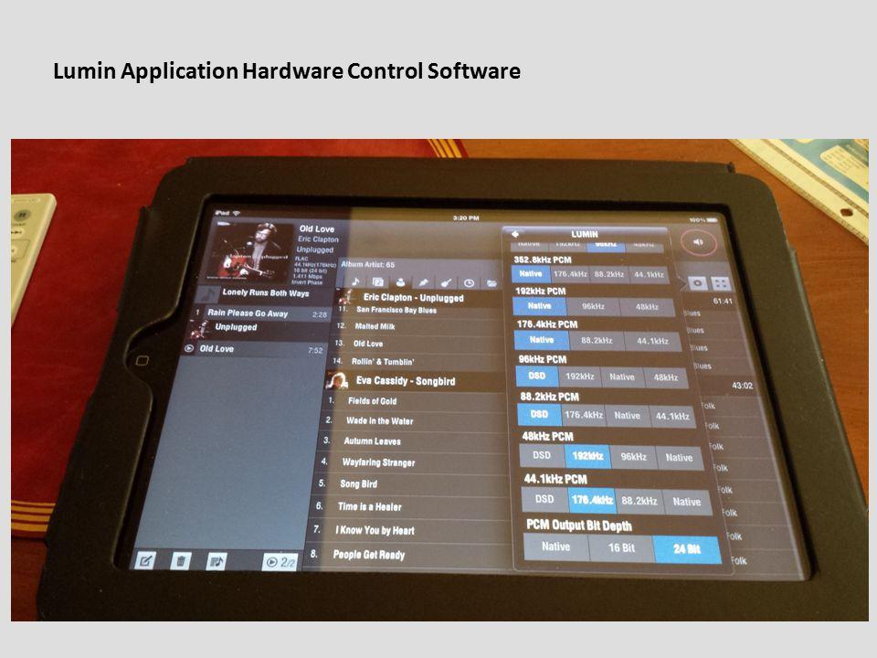Lumin Application Hardware Control Software