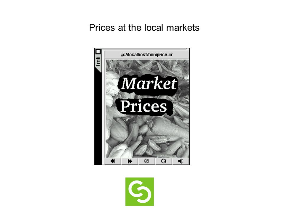 Prices at the local markets